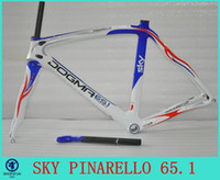 Wholesale High top bicycle frame carbon pink black and white color full carbon frame pinarello dogma sky white blue and red co carbon bike frames