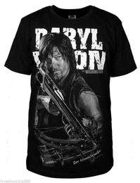 Wholesale THE WALKING DEAD DARYL DIXON Cotton Black Shirt T shirt Tee M L XL XXL XXXL