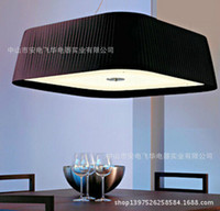 12v LED SMD140530-11D 2pcsXAtmospheric cloth square living room chandelier Bedroom Queen Hotel project lighting lamps living room dining room model