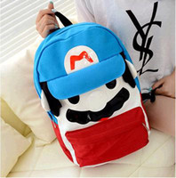 Wholesale 2014 Super Mario Mario backpack bag super Mary rucksack high school students School Bags