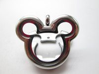 glass lockets - Mickey Mouse Silver NecklaceLocket Floating Charm Locket Glass Locket Photo Locket