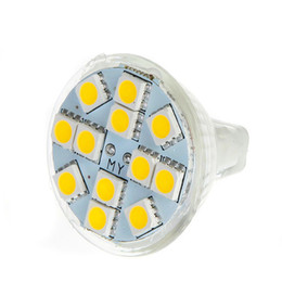 Promotion gu4 conduit 2016 Real Mr11 Smd Pure White Mr11 Gu4 2w 120-144lm Lampe à LED 12 Smd5050 Blanc chaud / blanc Spotlight Livraison gratuite