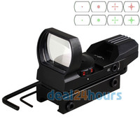 Wholesale Holographic Reticle Red Green Dot Tactical Reflex Sight Scope with Mount for Gun mm New