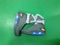 Wholesale 2014 Hot Sale LED Shoes Air Mag Marty McFly s Sneaker Mag Glowing Shoes Party Charge Shoes Limited Edition Men Shoes Grey Stage Shoes