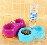 Automatic Feeders & Waterers Plastic Indoor Hot automatic water bowl pet supplies pet dog bowl double dog bowl