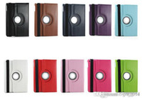 Wholesale freeshipping degree Rotating PU Leather Cover Case for ipad ipad ipad2 smart stand with magnet