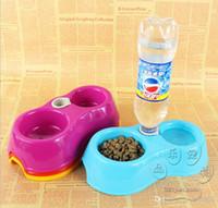 Wholesale Hot automatic water bowl pet supplies pet dog bowl double dog bowl
