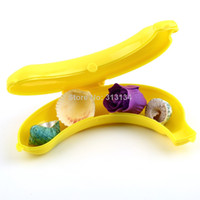 Plastic Food Eco Friendly New arrival Banana Protecter Guard Container Case For Trip Picnic free shipping