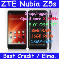 """Quad Core Android Lenovo Freeshipping original ZTE Nubia Z5s Snapdragon 800 quad core 2.3GHz Android 4.2 phone 5.0"""" OGS III 2GB+16GB 13MP in stock Elma"""