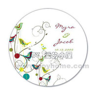 Wedding Accept Yes Wholesale - 50PCS LOT 3.8CM Diameter Personalized