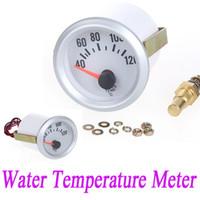 Wholesale 12V Car Water Temperature Meter Gauge with Sensor for Auto Car quot mm Celsius Degree Blue LED Light