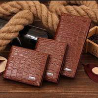 Wholesale Restoring Ancient Ways Mens Wallets Genuine Leather Man Wallet Fake Crocodile New Style High Quality Card amp ID Holders