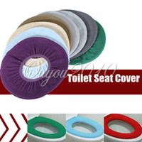 Eco-Friendly   Wholesale - WC Bathroom Warmer Toilet Closestool Washable Cloth Soft Seat Lid Cover Mat Pad Free Shipping