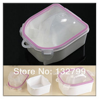 Cheap Nail Art Tips Care Soak Bowl Manicure Treatment Tool Cuticle Hand Wash Soaker Double-layer Equipment