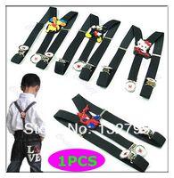 Wholesale Cartoon Clip on Adjustable Children Toddlers Elastic Pants X back Suspenders Trousers Brace