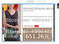 Shoulder Bags Women Plain 2014 Hot selling desigual bag women leather handbags designer brand high quality tote white&coffee color women messenger bags=4