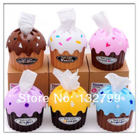 Wholesale Cupcake Tissue Box Roll Covers Toilet Paper Holder Case Roll Papaer Container Cute