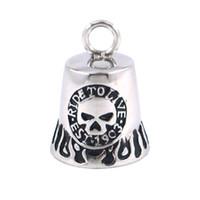 bell motor - Fashion Christmas Gift Motor Biker Pendant Stainless Steel Jewelry Skull Bell Motorcycle Pendant SJP33078