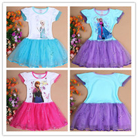 TuTu Summer Pleated 2014 summer kids TUTU dress new baby girl Elsa frozen dress sequin dresses fashion baby & kids clothing Free shipping