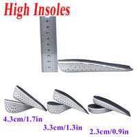 Wholesale New Arrival Men Women Unisex Memory Foam Increase Height High Half Insoles Shoe Inserts Cushion Pads