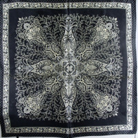 Scarves Print Adult 2014 Man Satin Large Square Scarf Cape Hot Sale All-match Black Silk Square Scarves Shawl Spring Summer Autumn Female Scarf