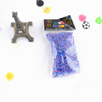 Wholesale 500 Sets Neon two double color Rainbow Loom Refill Bands for Rainbow Loom Bracelet bands clips hook