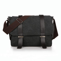 Wholesale fashionable canvas bag male backpack shoulder backpack high quality canvas laptop briefcase bag