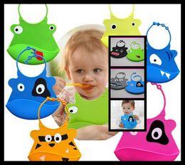 Wholesale 1500Pcs Waterproof Cartoon Style Infant BB Soft Silicone Kid Washable Baby Bib T328
