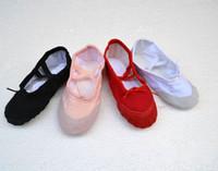 Wholesale Flat dance shoes womens and children Soft Split Sole Canvas ballet shoes Slippers latin dance shoes