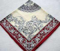 about 88*88cm silk twill scarf - New Charm Flowers Silk Scarf Women Fashion Silk Twill Hand Roll Hemmed Infinity Square Shawl For Gift