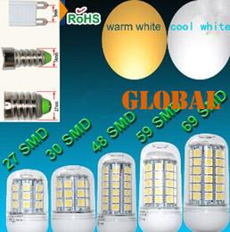 E27 E26 E14 GU10 G9 B22 LED Light Office Bulbs Corn Bulb 5050 SMD 5W 6W 9W 12W 15W 69 LEDs 1450LM With Cover 360degree Maize Lamp Warm White