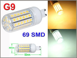 E27 LED Light E14 GU10 G9 B22 Office Bulbs Corn Bulb 5050 SMD 5W 6W 9W 12W 15W 59 LEDs 1450LM With Cover 360 degree Dining Lamp Warm White