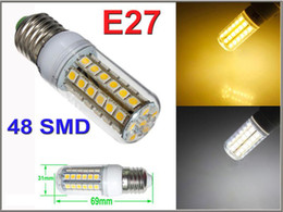 50X E27 LED Light E14 GU10 G9 B22 Office Bulbs Corn Bulb 5050 SMD 5W 6W 9W 12W 15W 48 LEDs 1450LM With Cover Dining Lamp Warm White By DHL