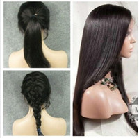Straight cheap full lace wigs - Super cheap lace wigs quot quot malaysian remy virgin human hair front lace wigs full lace wigs natural color with baby hair in stock