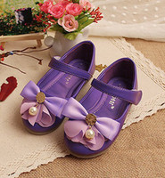 hot pink butterfly - Hot Children Flowers Flat Kids Lovely Stereo Butterfly Pearl Magic Tape Kids Shoes Childs Girls Leather Shoes Pink Purple Yellow Beige M0275