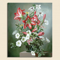 One Panel Digital printing Classical Beautiful Vintage Flower Modern Painting On COTTON Canvas Wall Art Flower Picture Prints Hangings Home Decoration MF005
