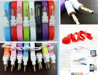 Wholesale Auxiliary audio cable mm flat m ft audio cable for mobile audio headset mp4