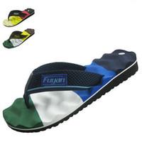 Beach massage slippers - Free New cheap shoe Summer Men Casual Flat Sandals man Leisure Soft Flip Flops EVA Massage Beach Slipper Shoes For Men Big Size