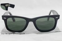 Wholesale High Quality Men s Women s Sunglasses Glass Lens Bright black Frame Green Lens Beach mm and mm Sunglasses Fashion Sunglasses