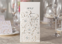 Wholesale 2014 New Pure White Wedding Invitation Card Free Envelope and Seal