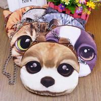 Wholesale 6 colors D big face cat new fashion women handbags messenger shoulder bags for woman cute cats bag C02
