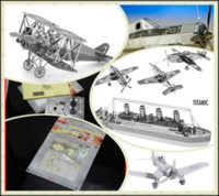 Wholesale 100Pcs Metal Earth D Laser Cut Model FOKKER D VII T341