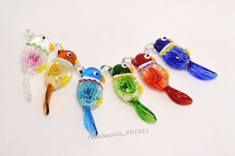 Lots Murano Glass Handwork Pendant Necklace flower In 3D Animal Bird Wholesale Retail FREE #pdt0162