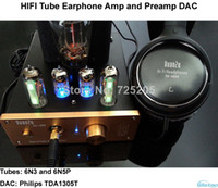 Wholesale Tube Earphone Amplifier Preamp DAC Class A N3 SRPP Drive N5P Ohm Output Power W Stereo Aluminum Case HIFI V V