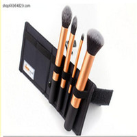 Wholesale High Quality Real techniques gold soft hair Professional Makeup powder blush brush set DHL A