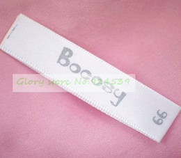 Wholesale printed main labels and care labels for clothing eco friendly washable OEM garment labels with your brand name
