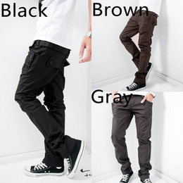 Wholesale Fashion Mens Casual Student Boys Young People Work Pants Trousers