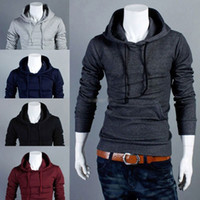 Wholesale Mens Slim Fit Sexy Top Designed Hoodies Hooded Tops Color Size Fashion