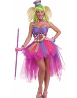 TV & Movie Costumes adult female clown costume - Sexy Halloween Costumes For Women Tutu Lulu Clown Adult Costume Plus Size Tulle Dress Suspender Belt Uniforms Outfits H39260