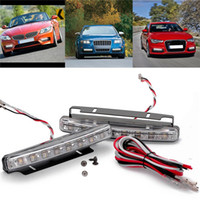 super white - LED Universal Car Light DRL Daytime Running Head Lamp Super White